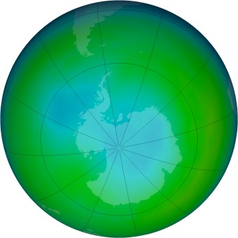 Antarctic ozone map for 2005-06